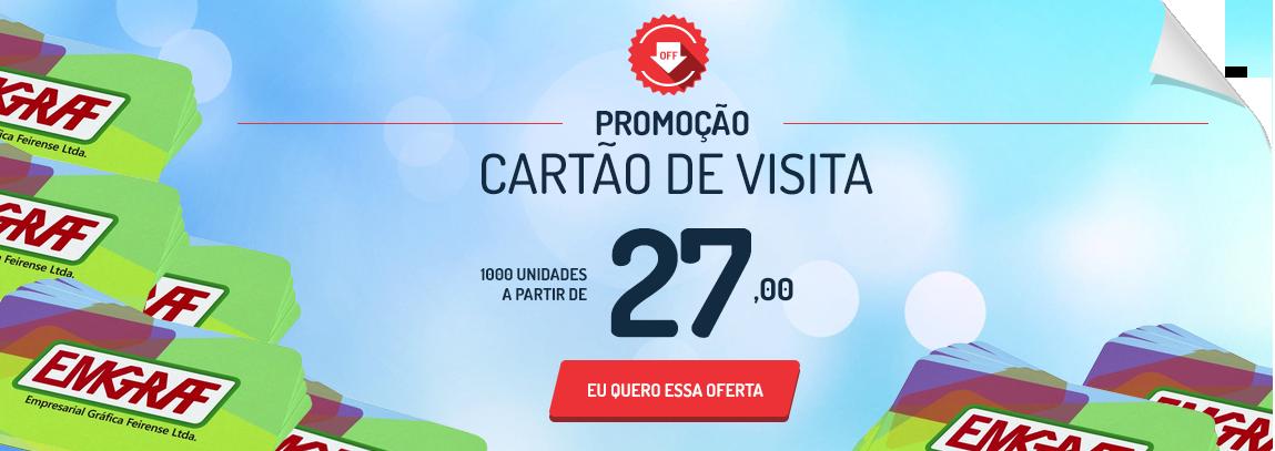 1.000 Cartões de Visita - A partir de R$ 27,00